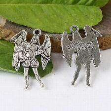 6pcs Tibetan Silver Archange Samuel Charms h1394