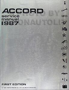 1987 honda accord original shop manual 87 repair service oem book dx rh ebay com 2009 Honda Accord 1990 Honda Accord