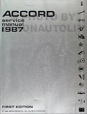1987 Honda Accord Original Shop Manual 87 Repair Service OEM Book DX LX LXi EXI