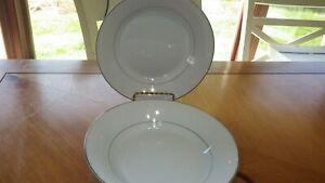 American-Limoges-Bridal-Bouquet-Soup-Cereal-Bowls-2-7-3-8-034-round-bowls-Platinum