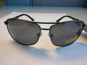 cfaa88d630 Image is loading Foster-Grant-Gunmetal-Gray-Polarized-Oscar-Sunglasses-100-