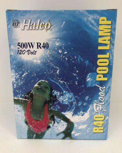 Halco Replacement Swimming Pool Light Bulb 500w 120v R40 Flood Bulb Brass Base