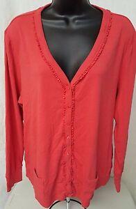 Fashion-Bug-Womens-Orange-Button-Down-Shirt-Top-Blouse-Size-1X