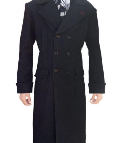Sherlock Holmes Benedetto Cumberbatch Lana Cappotto Invernale Nera-SPEDIZIONE IN GIORNATA