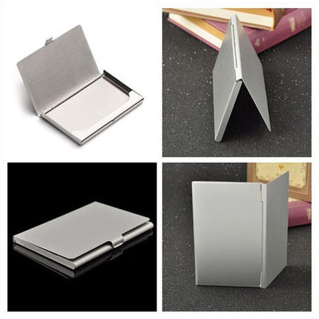 Selling Metal Silver Credit ID Box Card Case Namecard Clip Waterproof Business