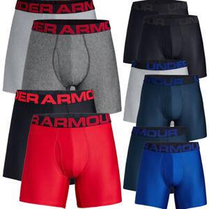 Under-Armour-Mens-Tech-6-inch-Boxerjock-2-Pack-Boxer-Shorts-Pants-Underwear