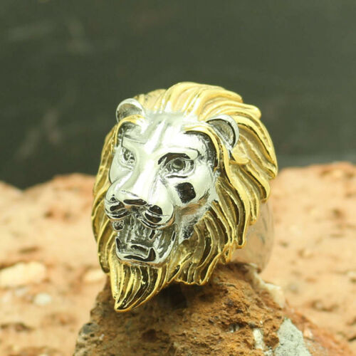 Elvis Presley Lion Head Concert TCB Gold Tone /& Silver Plated Sz 7-15 Mens Ring