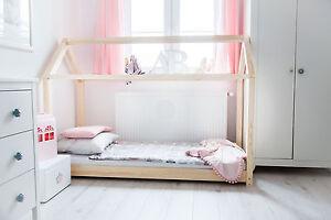 Kinderbett Holzhaus Bett Fur Kinder Talo D1 90x200 Cm Ebay