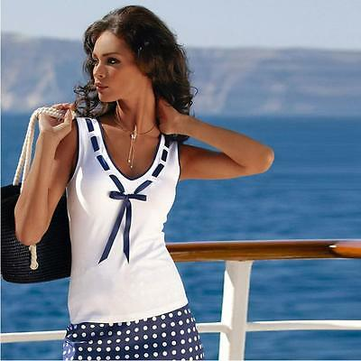 Women Sexy Summer Sleeveless Vest Top Tee Shirt Bow Blouse Sexy Tank Tops LOT