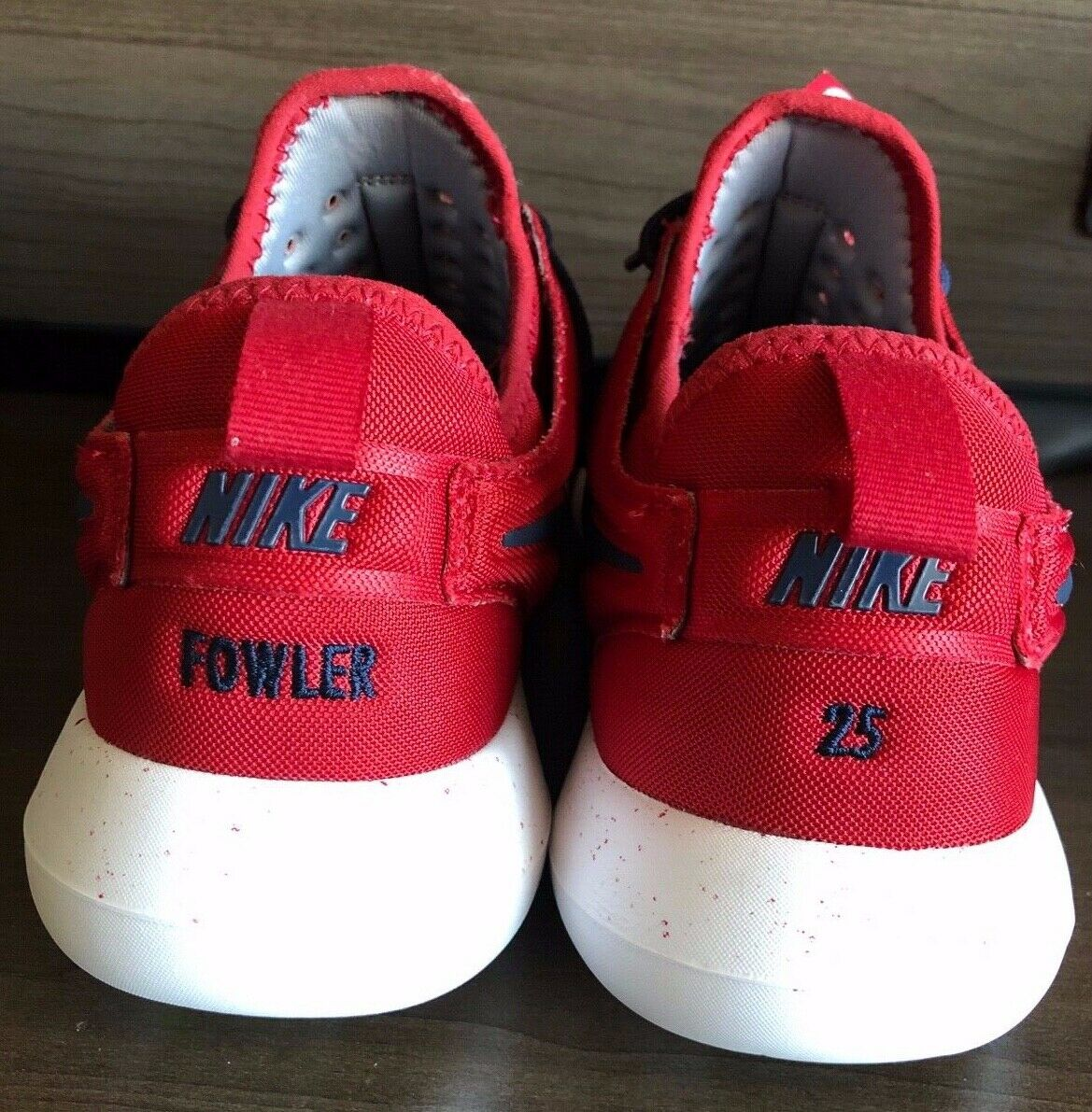 Dexter Fowler 25 Embroidered NikeiD Women Size 8 Red bluee White 897153-991