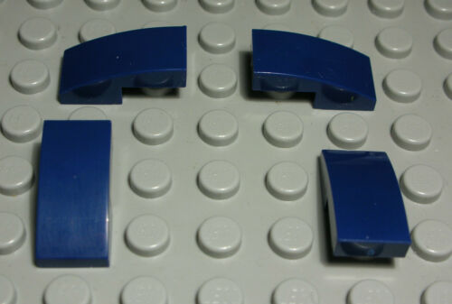1217 # Lego Stein abgerundet 1x2x0,6 Dunkelblau 4 Stück