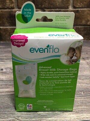Evenflo Feeding Advanced Breastmilk Storage Bags 5oz for Breastfeeding 40ct