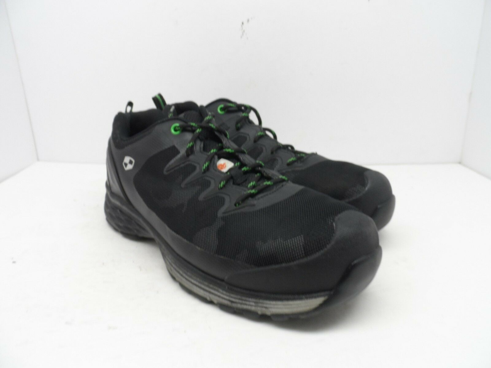 1ad3cea51 WORK PRO Men's Aluminium Toe Steel Plate Welded Athletic Shoes Black/Green  10EE