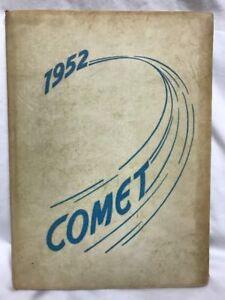 1952-DELAVAN-HIGH-SCHOOL-YEARBOOK-Comet-Delavan-Wisconsin-Signatures
