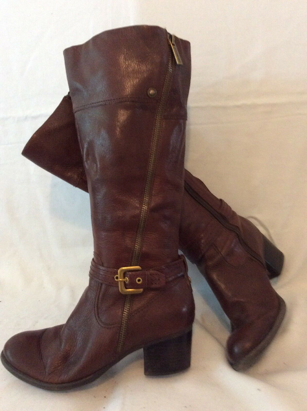 Autograph Brown Knee High Leather Boots Size 5.5