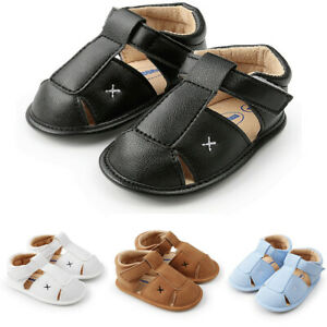 Toddler Baby Boys Girl Sandals Shoes Leather Shoes Sneaker Anti-slip Soft Sole