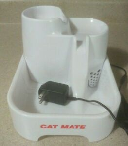"70oz Flowing ""Cat Mate"" Pet Fountain w Filter MINT"