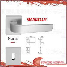 COPPIA MANIGLIA CON ROSETTA MOD.NURIA 1501 CROMO SATINATO MANDELLI