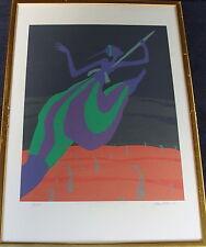 Juhan Kubu (Estland*1956?),Lithographie 9/250 zur WM in Göteborg 1995,Speerwurf