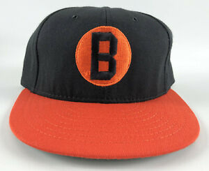 Baltimore-Black-Sox-American-Needle-Fitted-Hat-7-1-8-Negro-League-Black-Orange