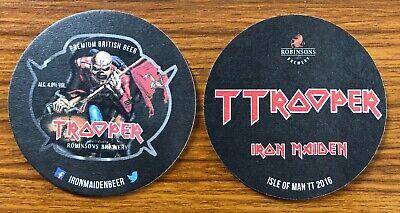 Iron Maiden Trooper TTrooper Isle Of Man TT 2016 Beer Mat SUPER RARE
