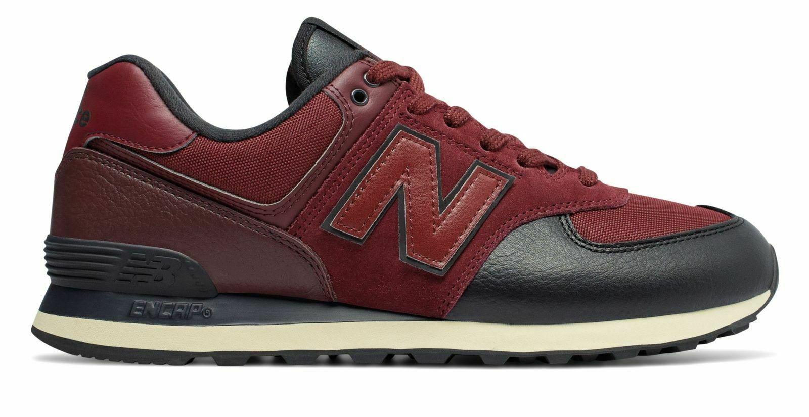 New Balance Men's 574 shoes Classics Traditionnels Red Heather ML574LHB