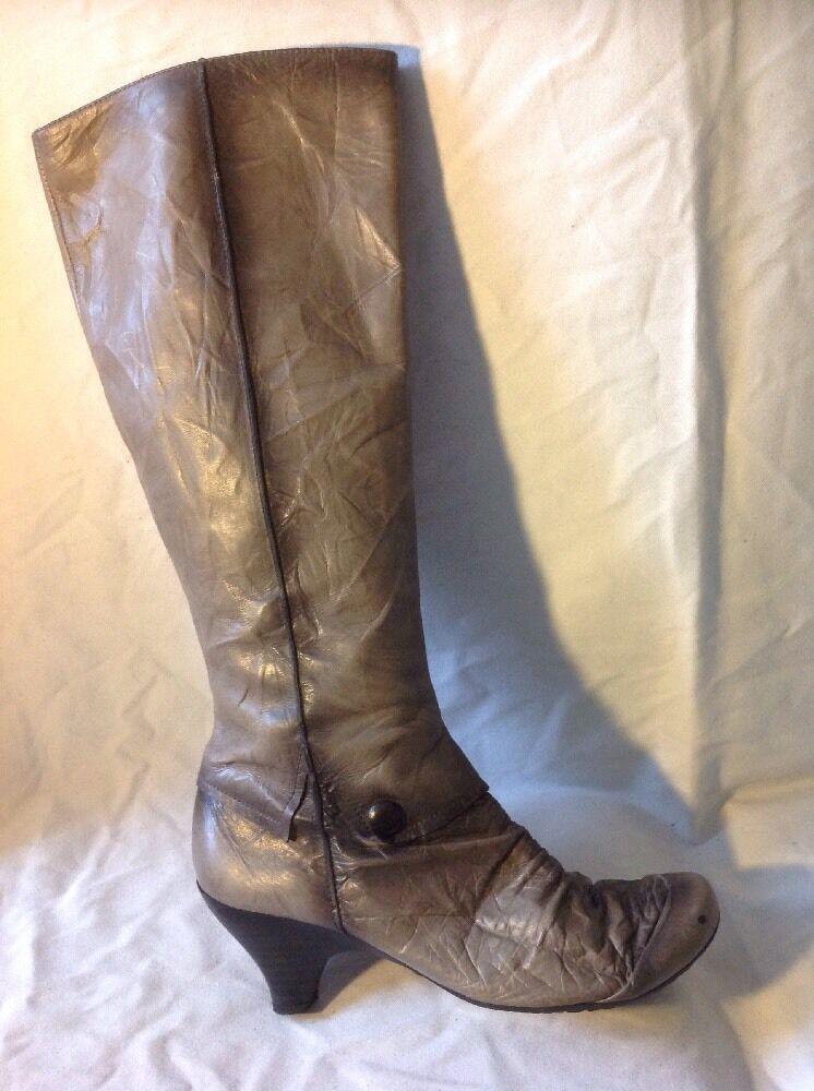 Hispanitas Brown Knee High Leather Boots Size 38