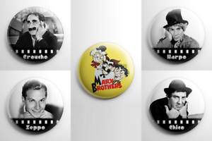 Marx Brothers Button Set Comedy