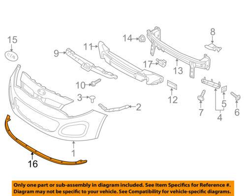 KIA OEM 12-13 Rio Front Bumper-Lower Spoiler Chin Lip Splitter 865911W200