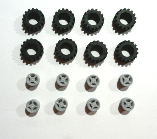 16 x LEGO®87414 Reifen,Räder mit Felgen je 8 x Neuware.