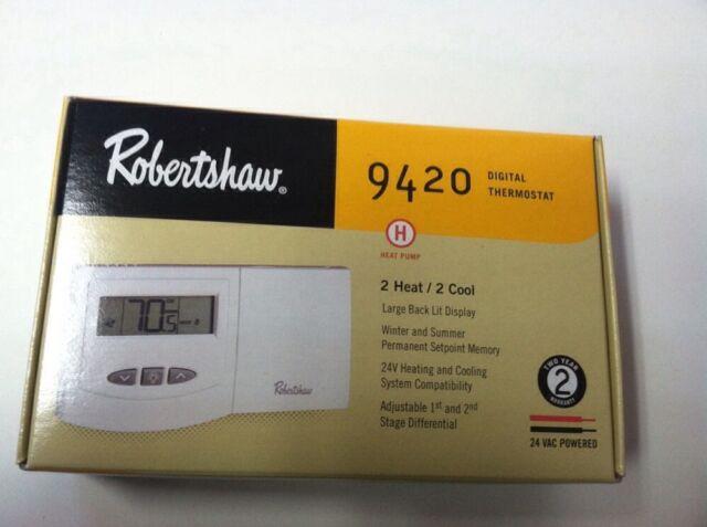 robert shaw robertshaw digital thermostat mpn 9420 ebay rh ebay com Robertshaw 9420 Thermostat Problems Robertshaw 9420 Thermostat Display
