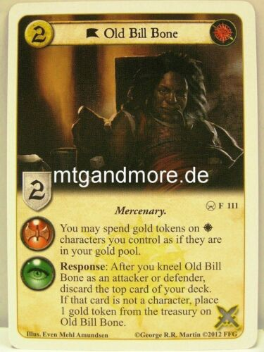 A Game of Thrones LCG A Roll of the Dice 1x Old Bill Bone  #111