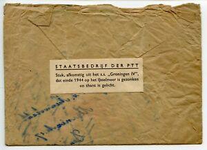 SALVAGED-MAIL-Netherlands-1944-034-Groningen-IV-034-ship-sunk-in-collision