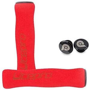 Foam-M-H-S-Grips-Handlebar-Plugs-for-BROMPTON-RED