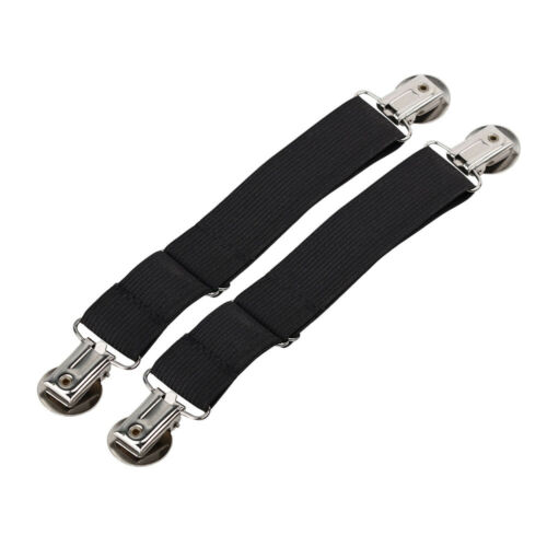 US Boot Clips Elastic Adjustable Leg Straps Pant Stirrups with Heavy Clips WIL
