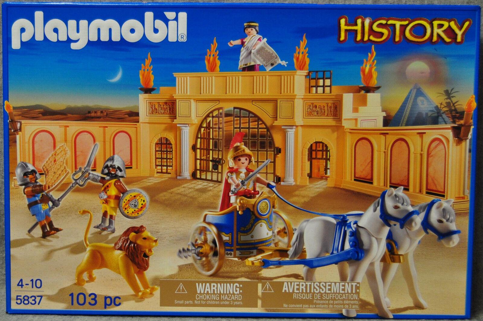 Playmobil Streitwagen 5837 Römische Wettkampf-Arena mit Streitwagen Playmobil - History - Römer - Neu 554ac7