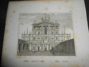 1837-AUDOT-INCISIONE-MILANO-CHIESA-DI-SAN-CELSO-LOMBARDIA