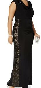 Women-s-Formal-Dresses-Plus-Size-20W-CONNECTED-Black-Sequined-Embellished-Sheath