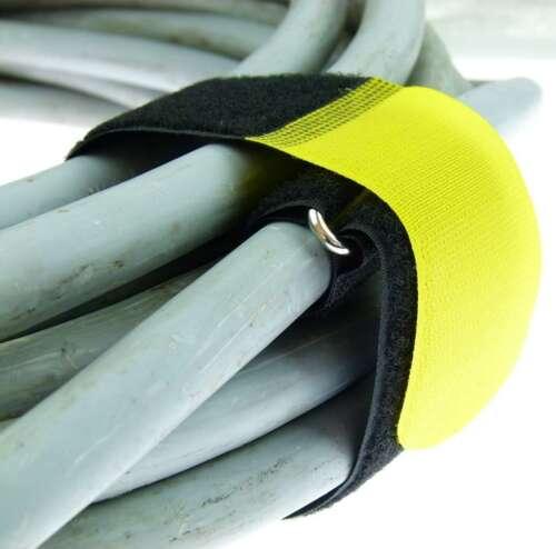 100 Kabelbinder Klettbänder 80cm x 50mm 10 Farben Kabelklettband Metallöse Klett