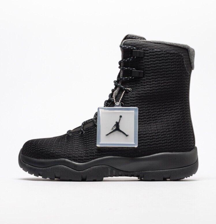 Nike Air Jordan Future Boot EP 8.5 Triple Black Grey Field SFB Boots 854554-002
