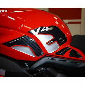 Adesivi 3D Serbatoio Laterali compatibili con Ducati Streetfighter V4 2020-21