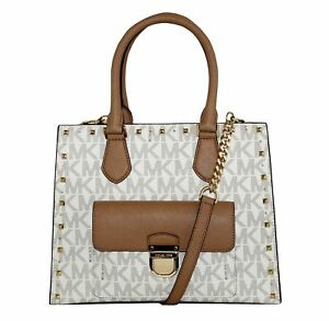 Details about Michael Kors Women's Bridgette Studded Medium Tote Leather Handbag (V NWT