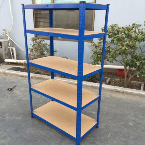 DayPlus@Garage Racking 5Tier Shelving Unit Boltless Stronger Metal Shelf Storage