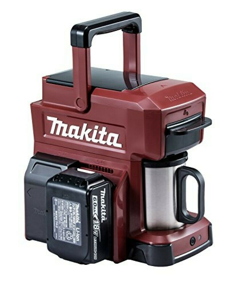 Makita Rechargeable Coffee Maker Authentic Red Cm501Dzar Japan New