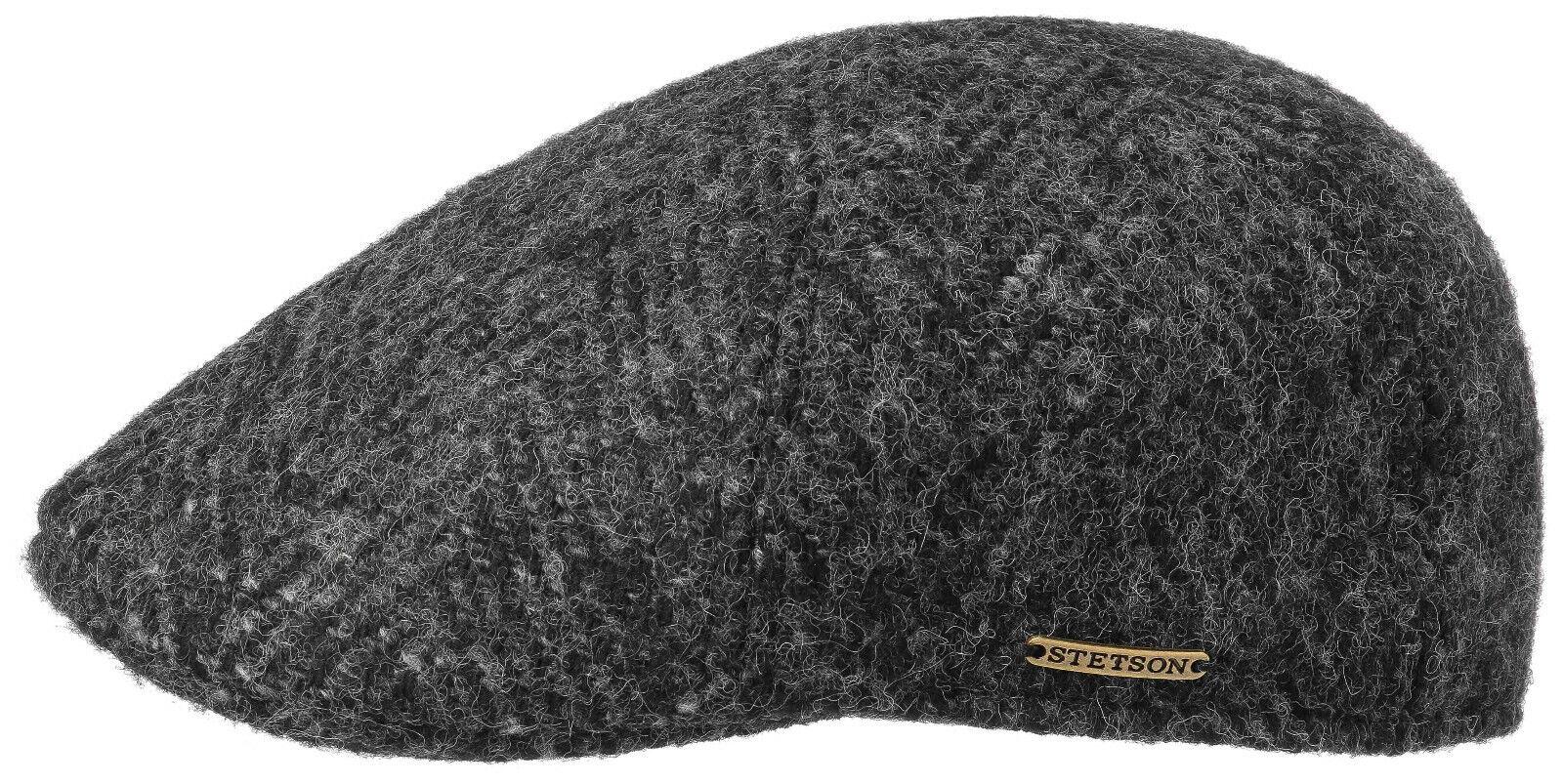 Stetson Duck cap gorra sombrero texas herringbone lana virgen 331 negro nuevo tendencia