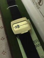 Men'S Large Swiss Made Vintage Automatic Digital  Watch 1960S Woldman Digital
