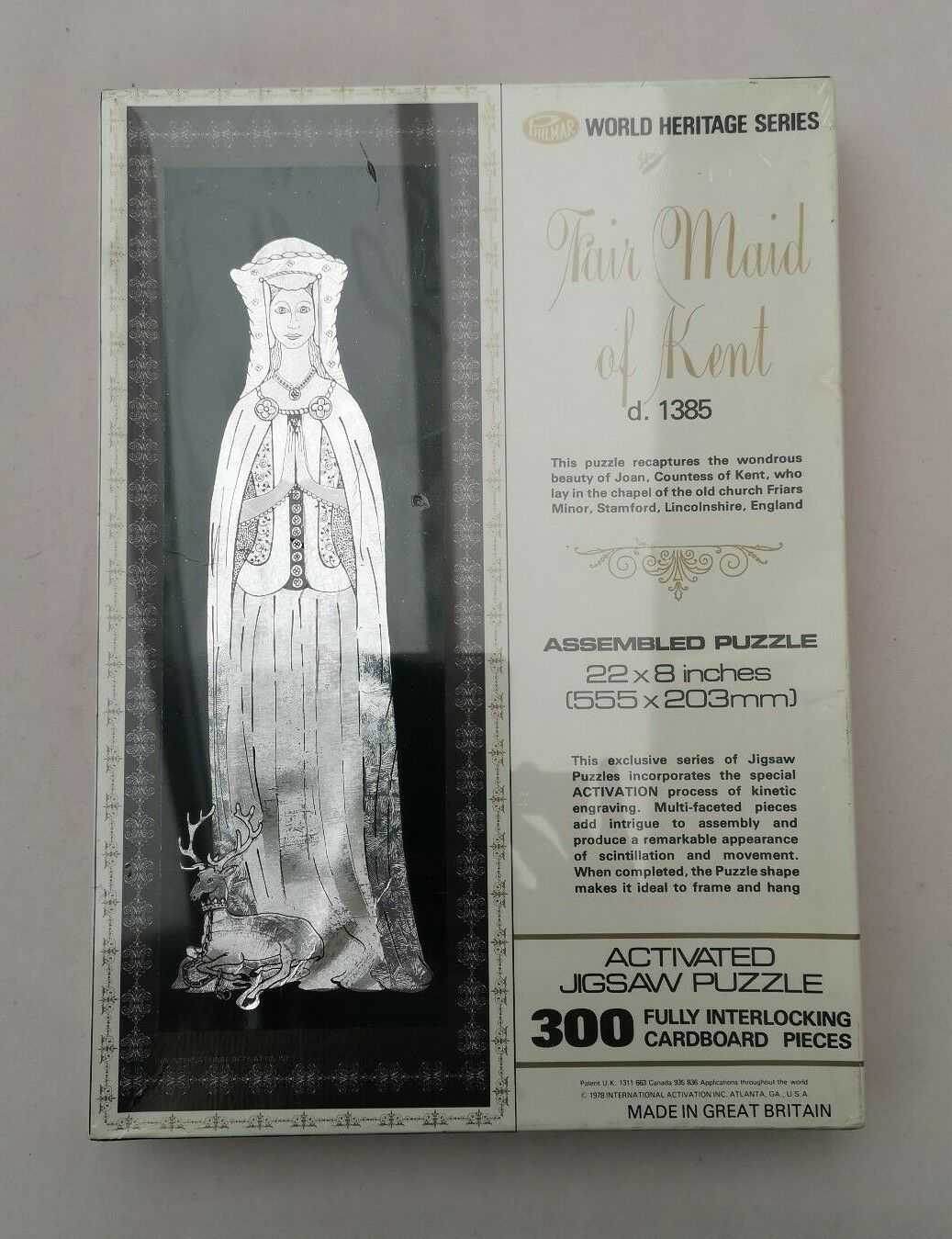 Jigsaw Puzzle Vintage 1978 Philmar World Heritage Series Fair Maid of Kent 300