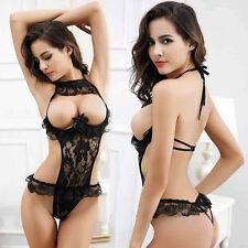 Babydoll Sexy Lingerie Lace Dress Sleepwear Underwear Women G-string See-through