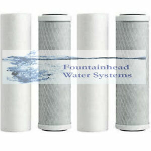 Lower Price with 2 Sets 2.5x10' 2 5 Micron Sediment Filters 2 Carbon Block Filters More Discounts Surprises Reverse Osmosis & Deionization