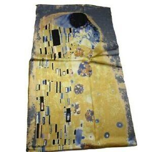 Carltys-Silk-Scarf-100-Pure-Silk-Elegant-and-Famous-works-of-Gustav-Klimt
